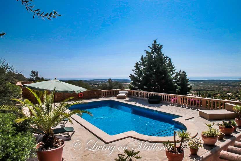 Finca mit wunderschönem Meer- und Panoramablick, Pool und sep. Gästewohnung
